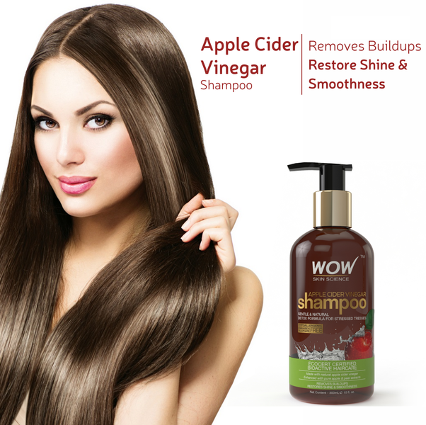 How is WOW apple cider vinegar shampoo? Does it stop hair fall, and is it good for the scalp?